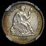 1864-S Liberty Seated Half Dime AU-55 NGC