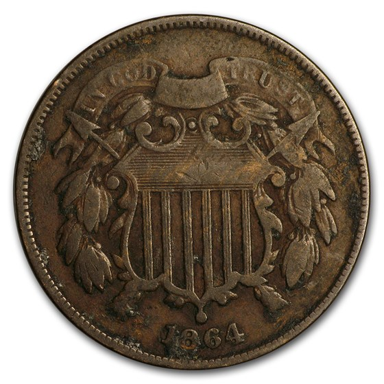 1864 Two Cent Piece VG