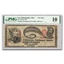 "1865 $2.00 ""Lazy Deuce"" New Philadelphia, OH VG-10 PMG (CH#1999)"