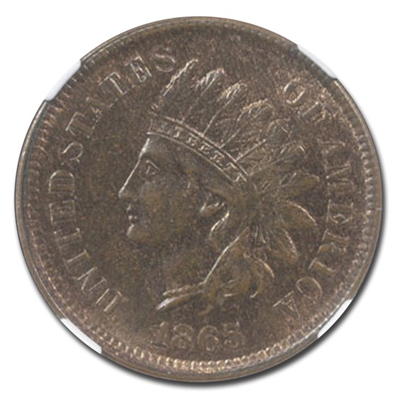 1865 Indian Head Cent MS-64 NGC (Brown)