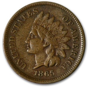 1865 Indian Head Cent VF