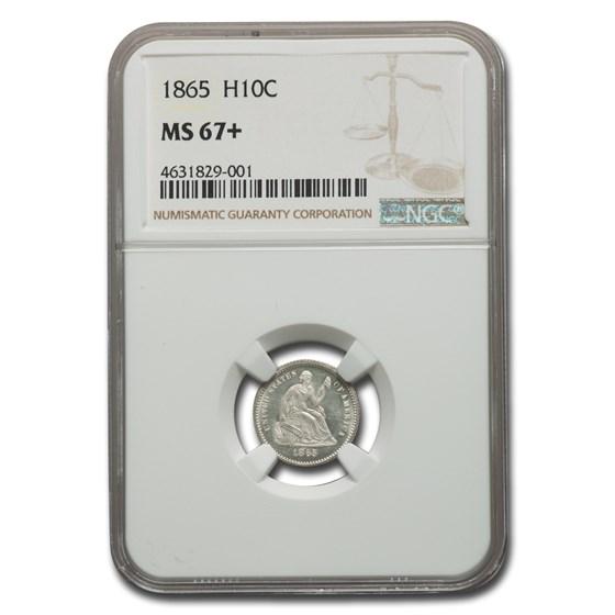 1865 Liberty Seated Half Dime MS-67+ NGC