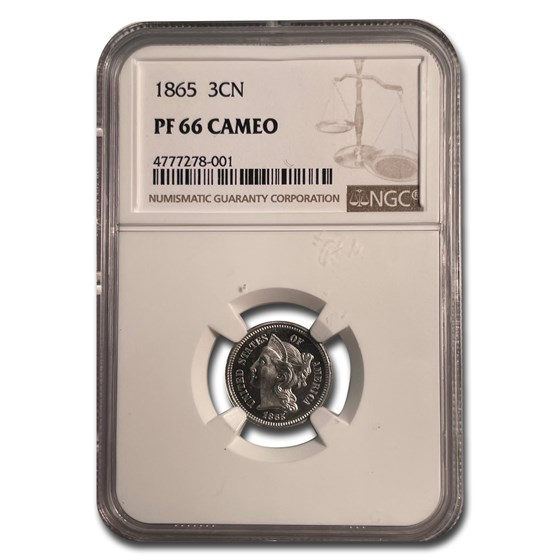 1865 Three Cent Nickel PF-66 Cameo NGC