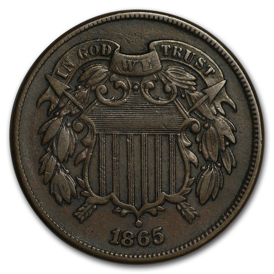 1865 Two Cent Piece VF