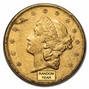 1866-1876 $20 Liberty Gold Double Eagle Type 2 VF