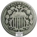 1866-1883 Shield Nickel Avg Circ