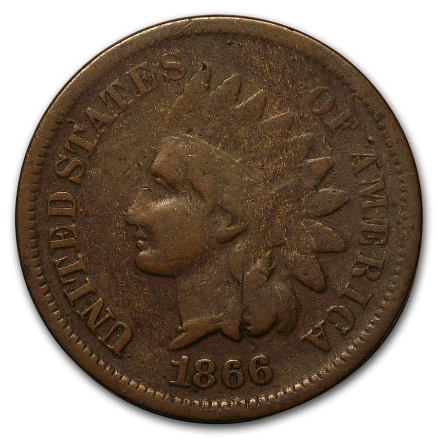 1866 Indian Head Cent Good