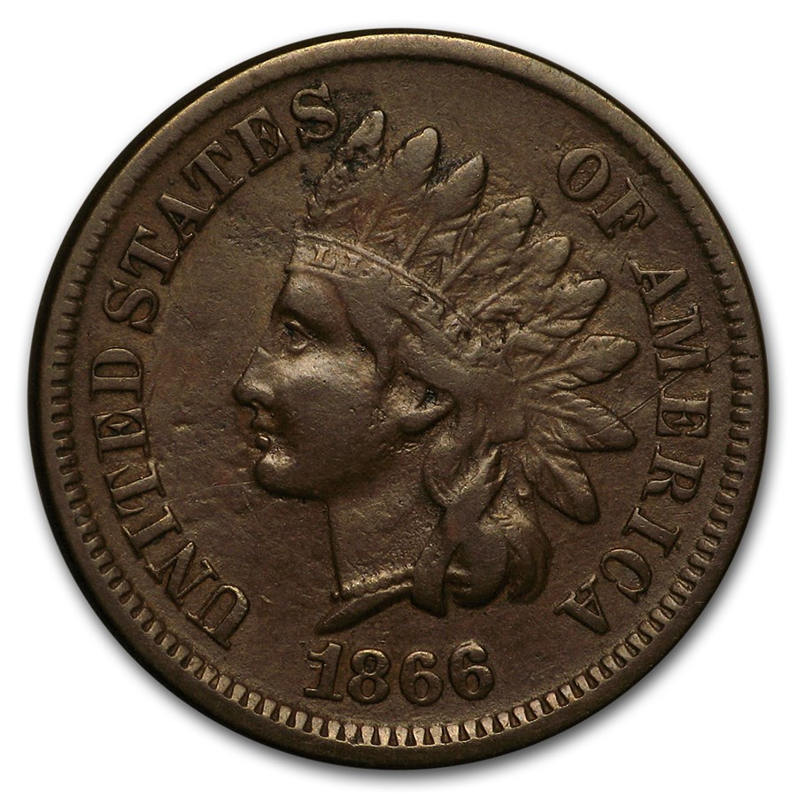 1866 Indian Head Cent VF