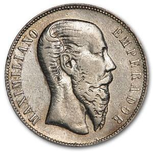 1866-M Mexico Silver 50 Centavos VF Details