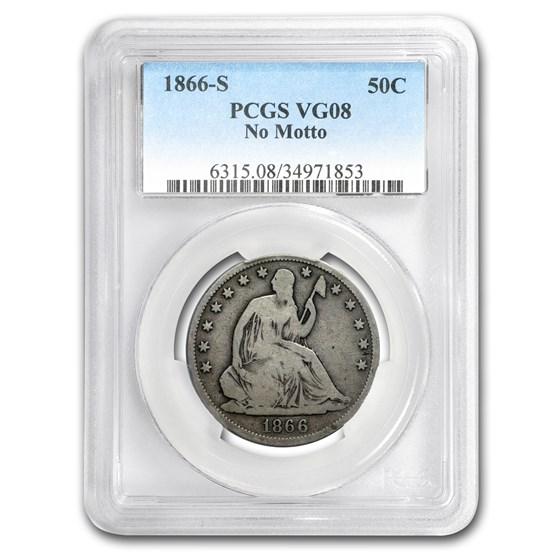 1866-S Liberty Seated Half Dollar VG-8 PCGS (No Motto)