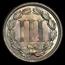 1867 3 Cent Nickel BU