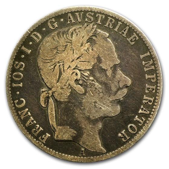 1867-A Austria Silver Florin VF