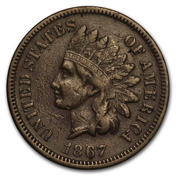 1867 Indian Head Cent VF