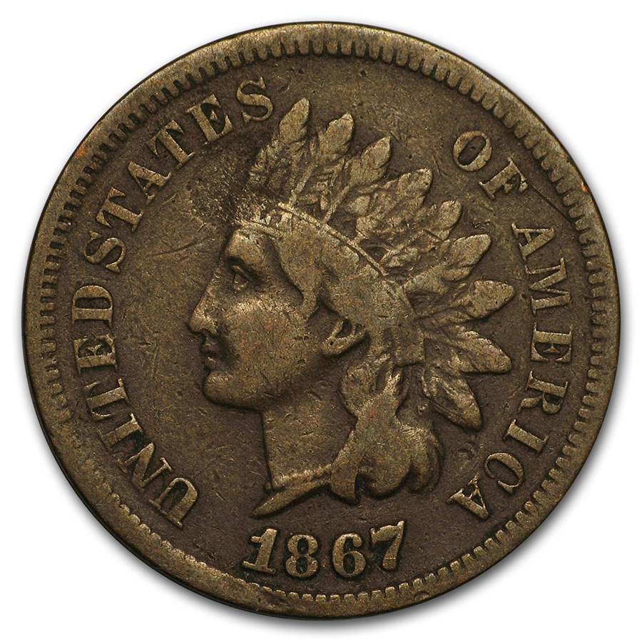 1867 Indian Head Cent VG