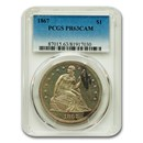 1867 Liberty Seated Dollar PR-63 Cameo PCGS