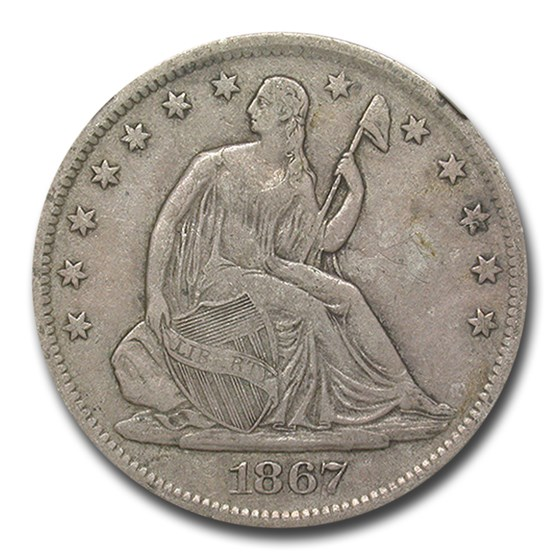 1867-S Liberty Seated Half Dollar VF-25 NGC