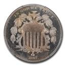 1867 Shield Nickel w/Rays PR-65 Cameo PCGS CAC