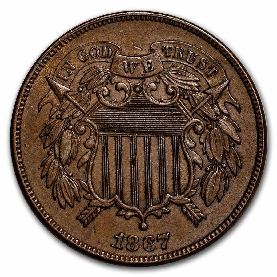 1867 Two Cent Piece BU