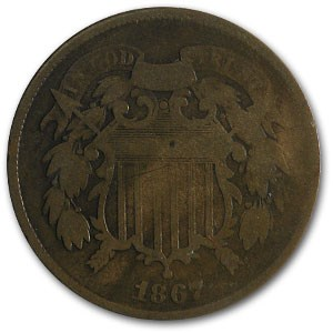 1867 Two Cent Piece Good