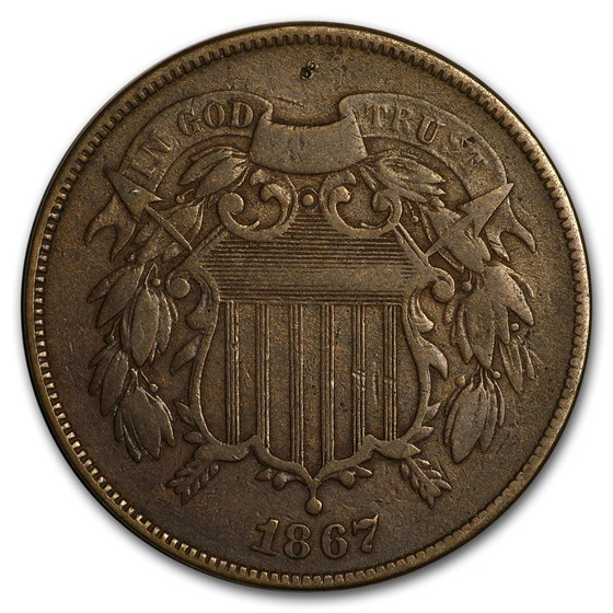 1867 Two Cent Piece VG