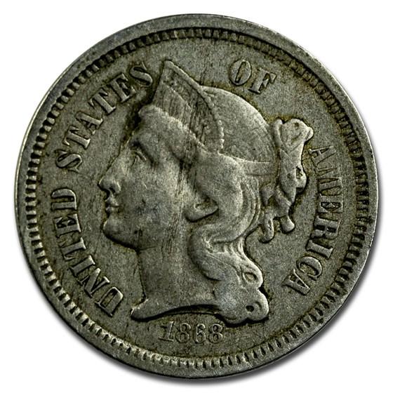 1868 3 Cent Nickel VF