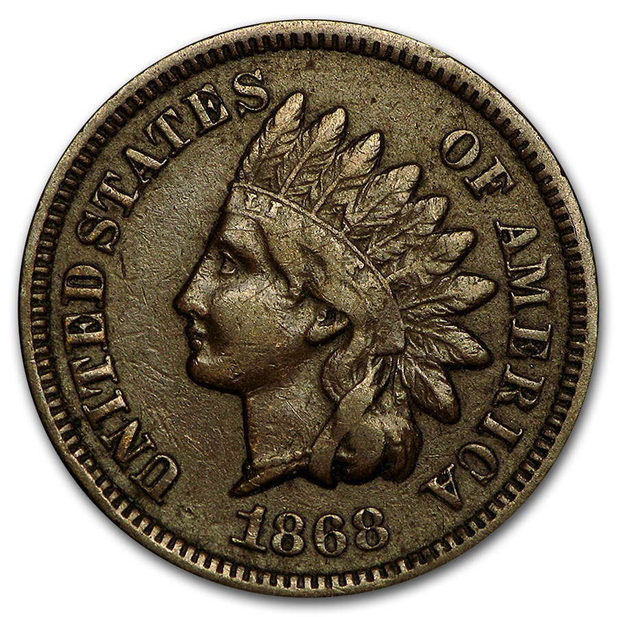 1868 Indian Head Cent Fine