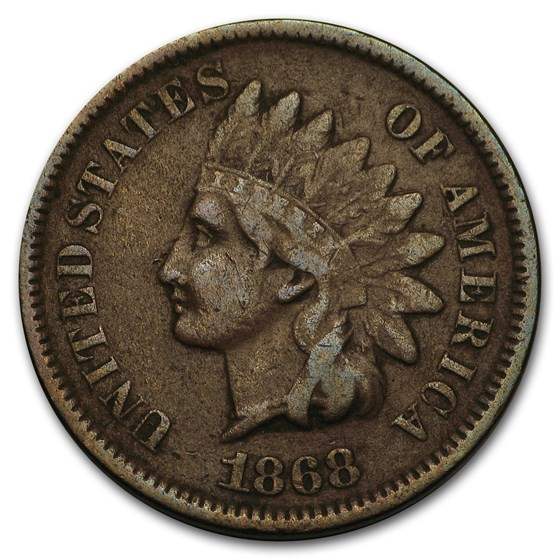 1868 Indian Head Cent VF
