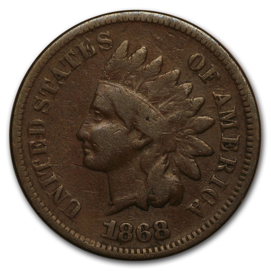 1868 Indian Head Cent VG