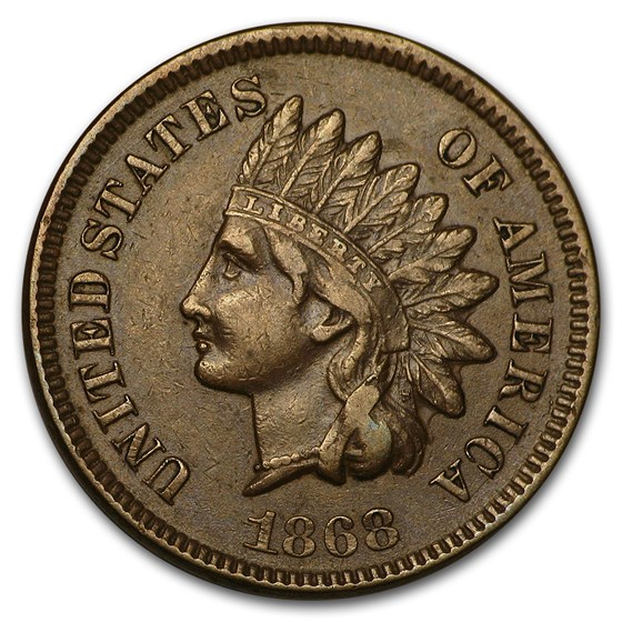 1868 Indian Head Cent XF