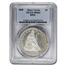 1868 Liberty Seated Dollar MS-61 PCGS (MPD)
