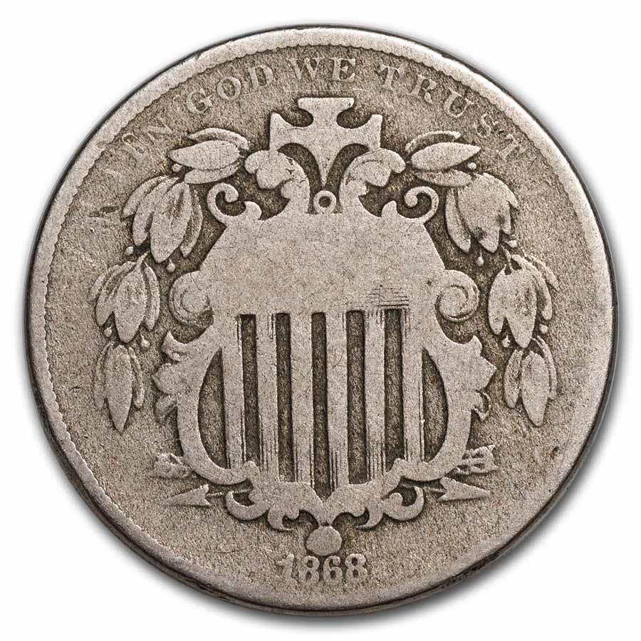 1868 Shield Nickel Good