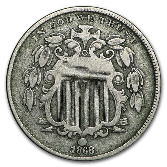 1868 Shield Nickel VF