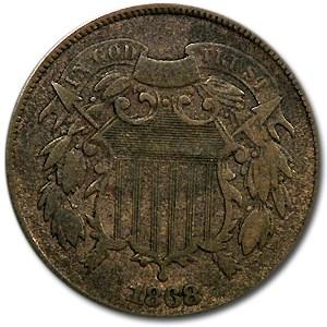 1868 Two Cent Piece Fine