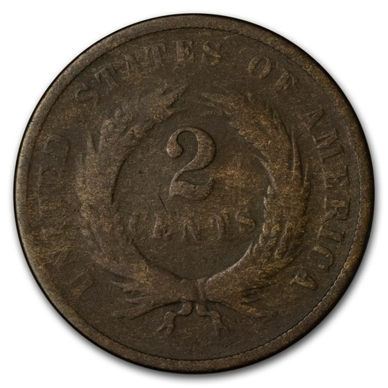 1868 Two Cent Piece Good