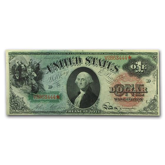 "1869 $1.00 Legal Tender ""Rainbow"" AU"
