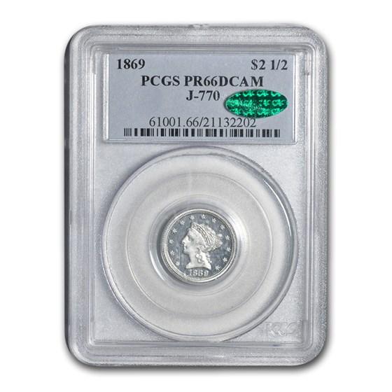 1869 $2.50 Liberty Quarter Eagle Pattern PR-66 DCAM PCGS (J-770)
