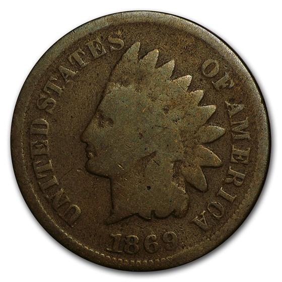 1869 Indian Head Cent Good