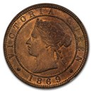 1869 Jamaica Copper-Nickel Penny MS-64 NGC