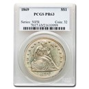 1869 Liberty Seated Dollar PR-63 PCGS