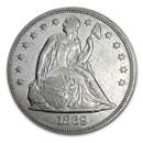 1869 Liberty Seated Dollar XF