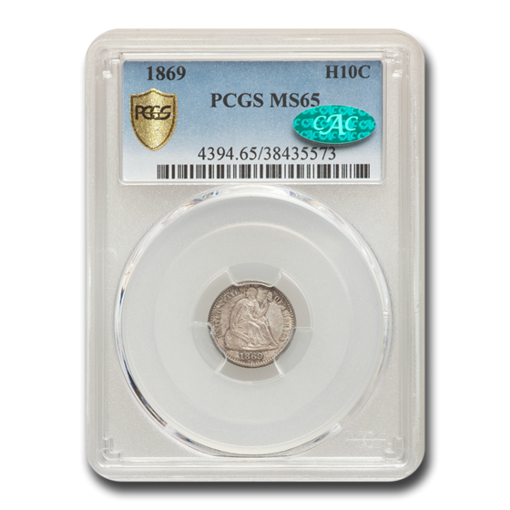1869 Liberty Seated Half Dime MS-65 PCGS CAC