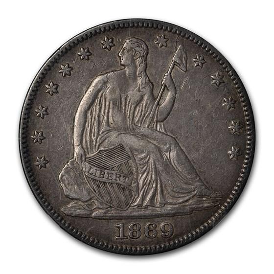 1869 Liberty Seated Half Dollar XF