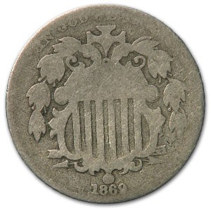 1869 Shield Nickel Good