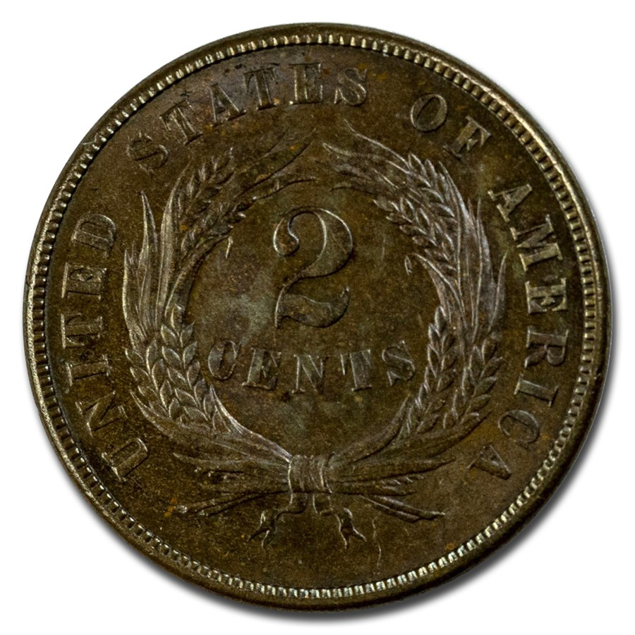 1869 Two Cent Piece BU (Brown)