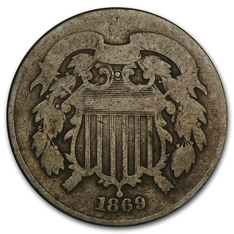 1869 Two Cent Piece Good
