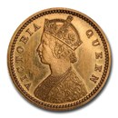 1870-CM India-British Gold 5 Rupees PF-63 NGC CAM (Restrike)