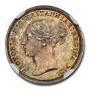 1870 Great Britain Silver Threepence Victoria MS-65 NGC