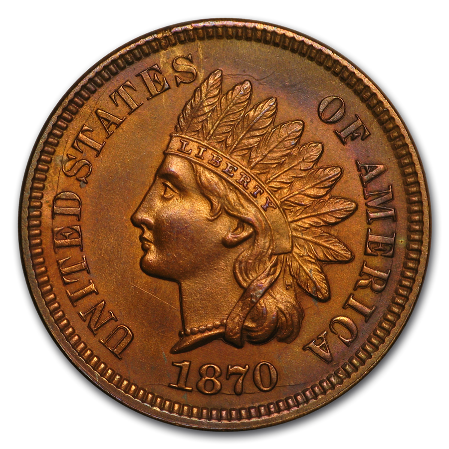 1870 Indian Head Cent BU