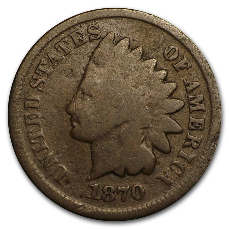 1870 Indian Head Cent Good