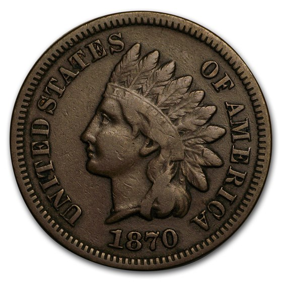1870 Indian Head Cent VF